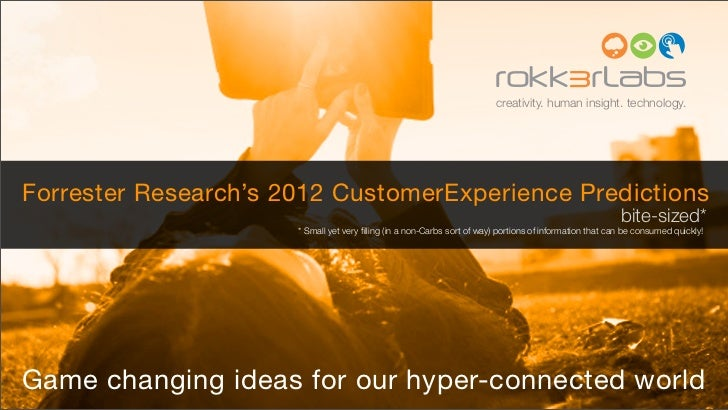 creativity. human insight. technology.Forrester Research's 2012 CustomerExperience Predictions                            ...