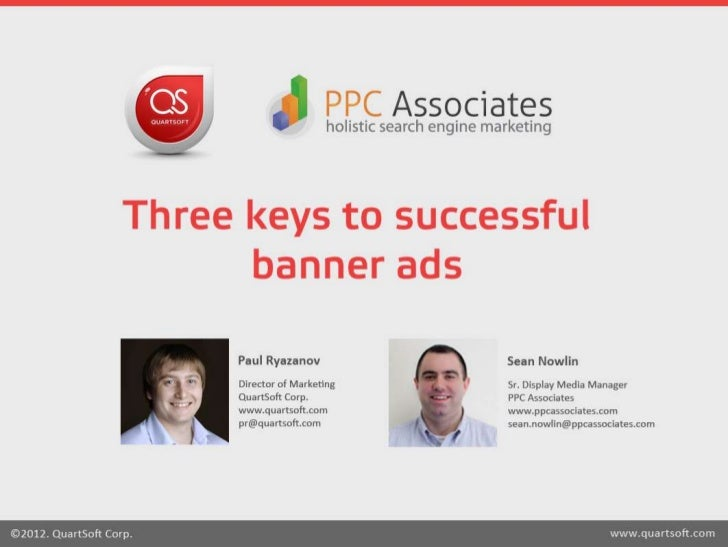Three keys to successful banner ads