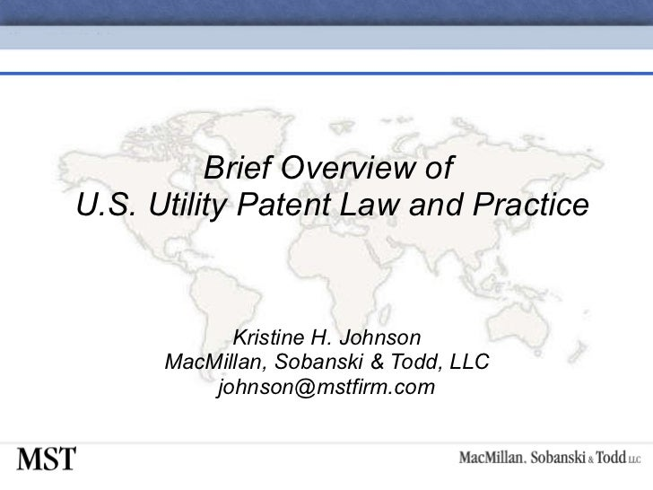 03-Brief Overview of U.S. Utility Patent Law and Practice