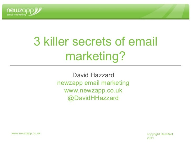 3 Killer Secrets of Email Marketing