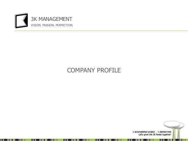 3K Management company profile - presentation