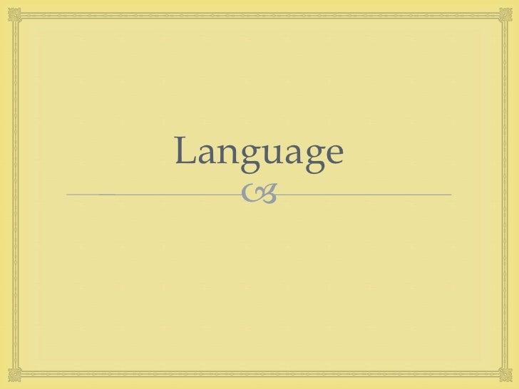 3 language