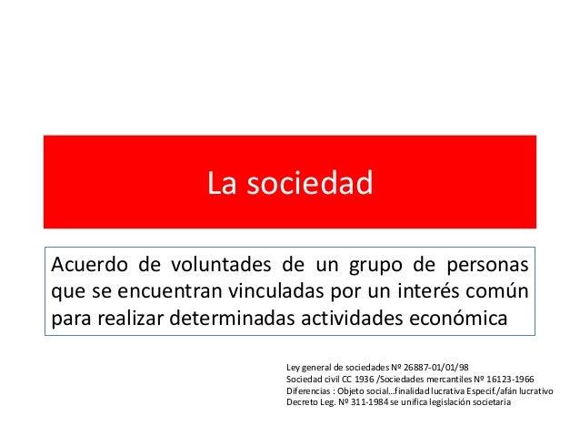3 la sociedad