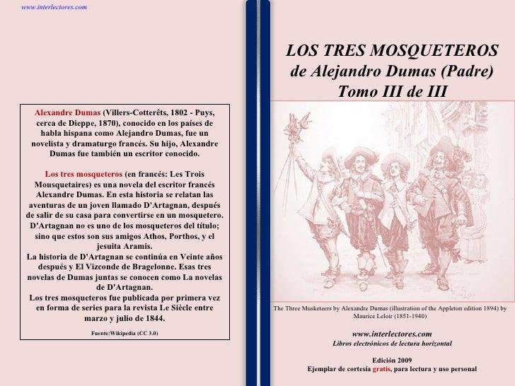 3los Tres Mosqueteros De Alejandro Dumas (Padre)   Tomo Iii