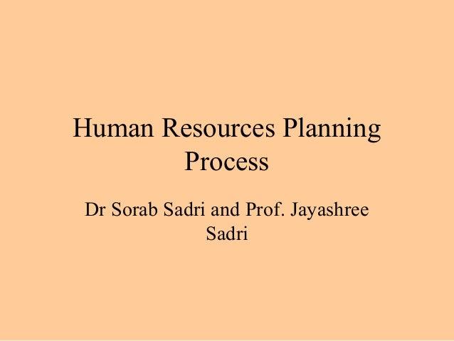 Manpower planning process