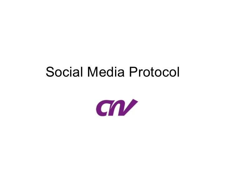 Social Media Protocol CNV