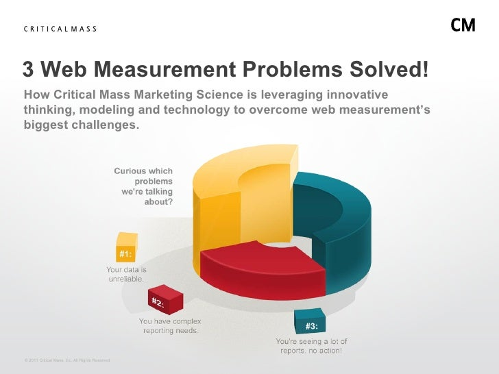 3 Web Measurement Problems Solved!How Critical Mass Marketing Science is leveraging innovativethinking, modeling and techn...