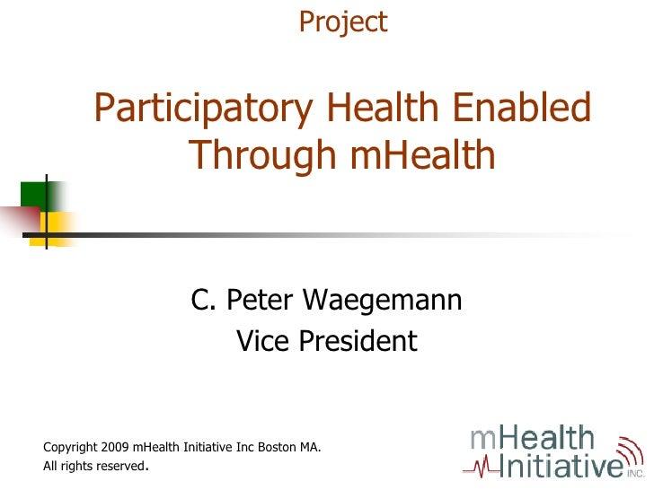 mHealth Community Project.Waegemann