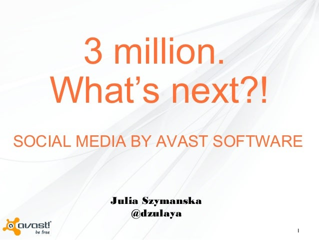 3 million fans. Whats next?! Social Media by AVAST Software