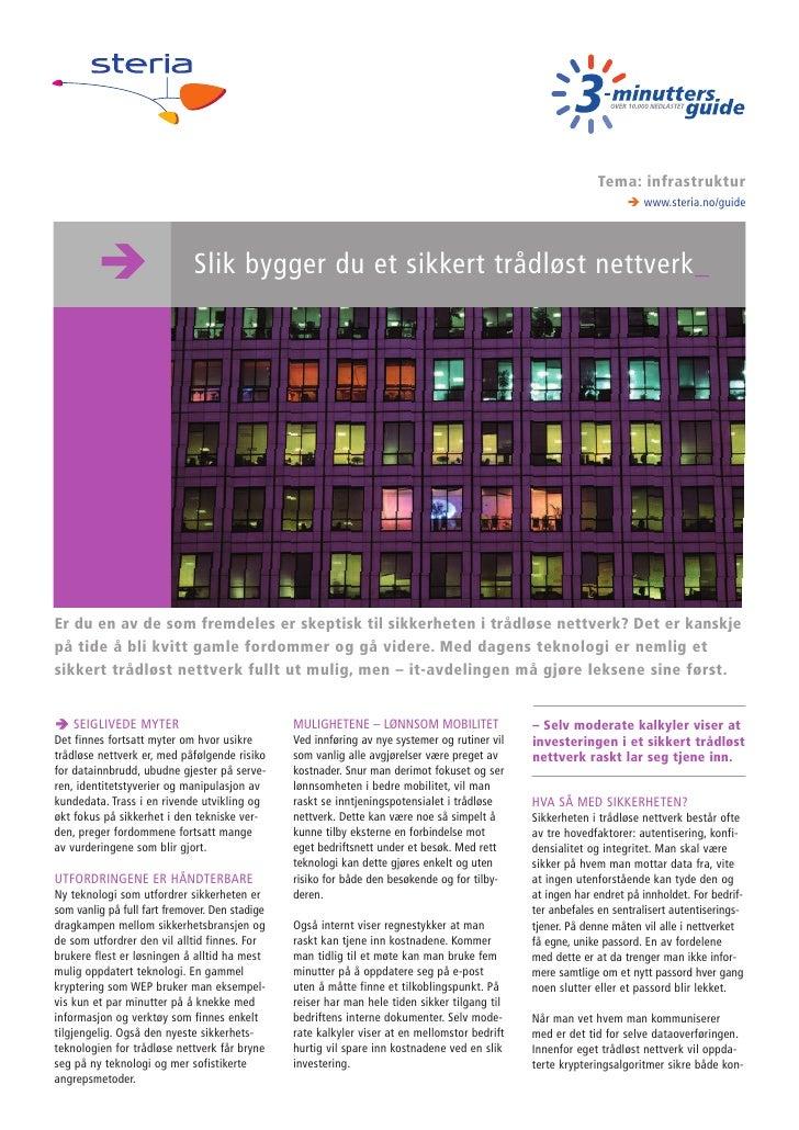 Slik bygger du et sikkert trådløst nettverk _ 3-minutters guide