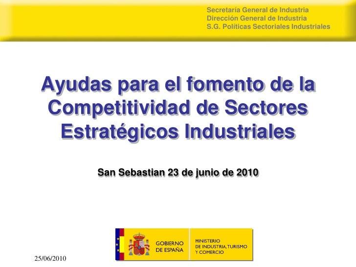 Secretaría General de Industria                                    Dirección General de Industria                         ...