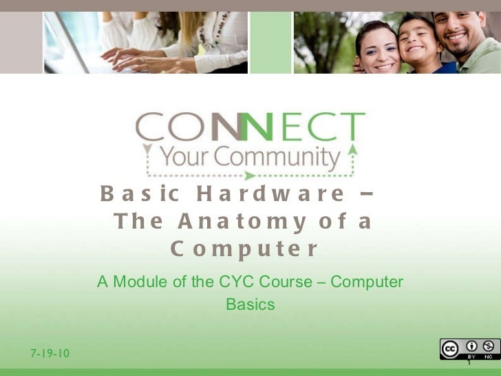 Basic Hardware –  The Anatomy of a Computer <ul><li>A Module of the CYC Course – Computer Basics </li></ul>7-19-10