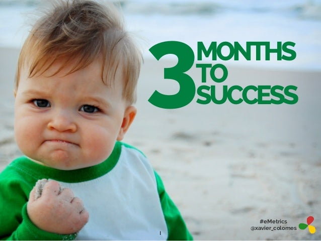 3  MONTHS TO SUCCESS  1  #eMetrics @xavier_colomes