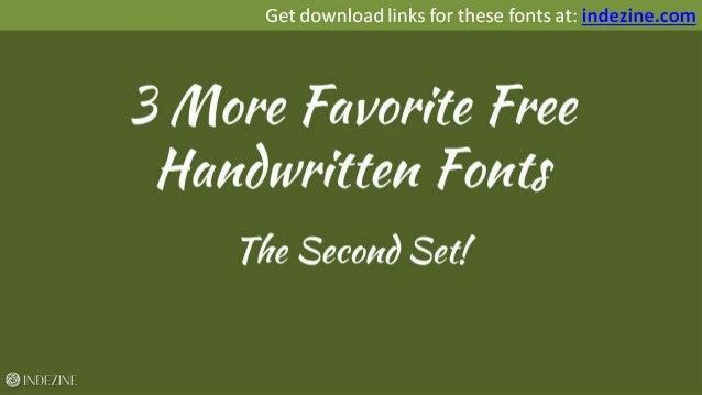 3 More Favorite Free Handwritten Fonts