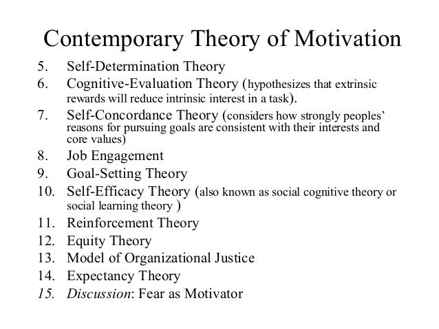 a discussion of the four theories of motivation Motivation reveals four major theory areas: (1) classic theories of motivation from maslow general discussion of motivation.