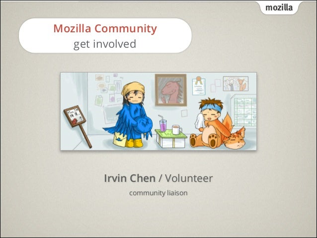 mozilla  Mozilla Community get involved  Irvin Chen / Volunteer