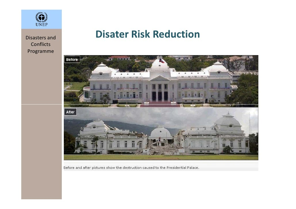 Disasters and   Disater Risk Reduction   Conflicts  Programme