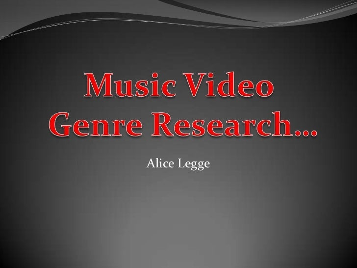 3) music video genre research