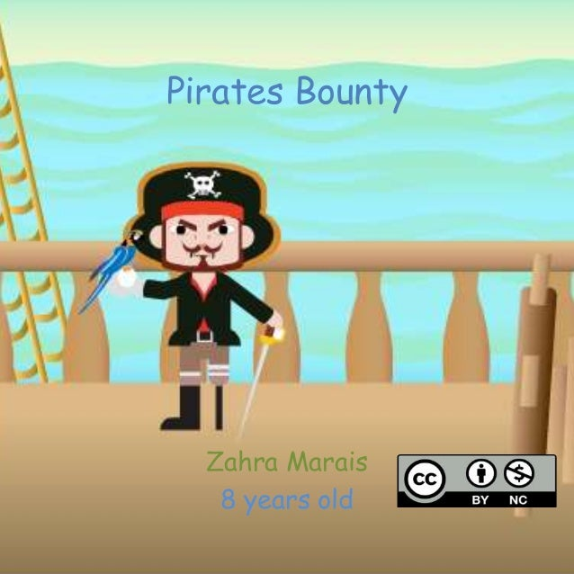 Pirates Bounty Zahra Marais 8 years old