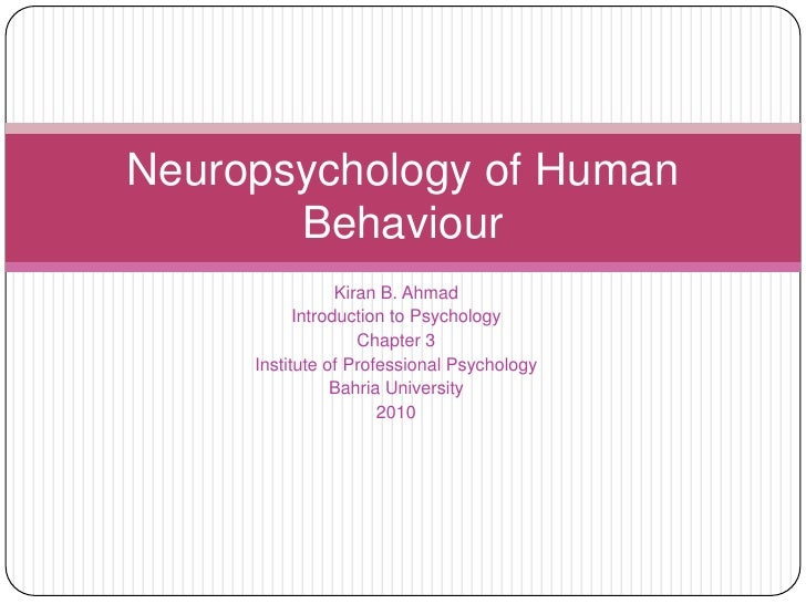 Kiran B. Ahmad<br />Introduction to Psychology<br />Chapter 3<br />Institute of Professional Psychology<br />Bahria Univer...