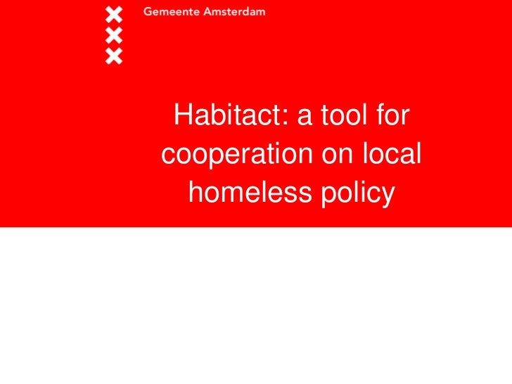 Habitact: a tool forcooperation on local  homeless policy