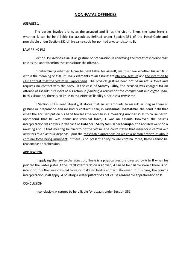 (3) non fatal offences