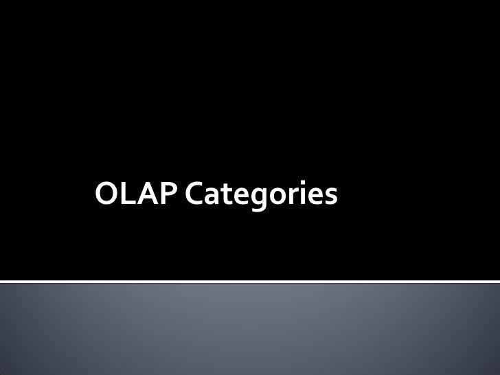 OLAP Categories