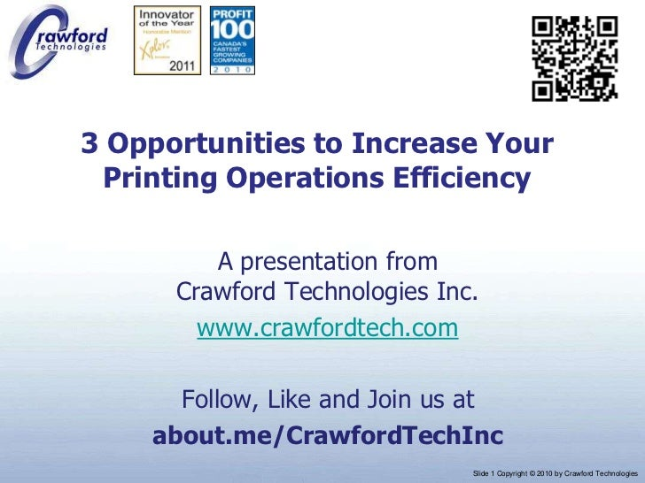3 Opportunities to Increase Your Printing Operations Efficiency
