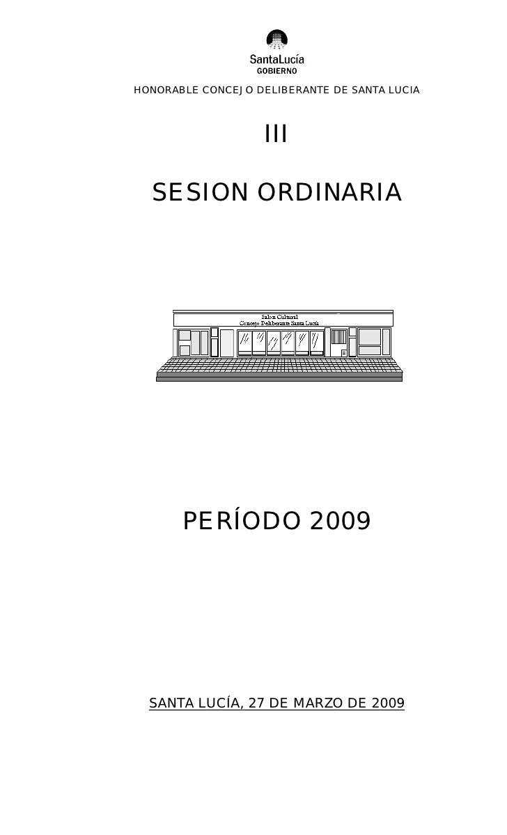 3º Ordinaria 2009