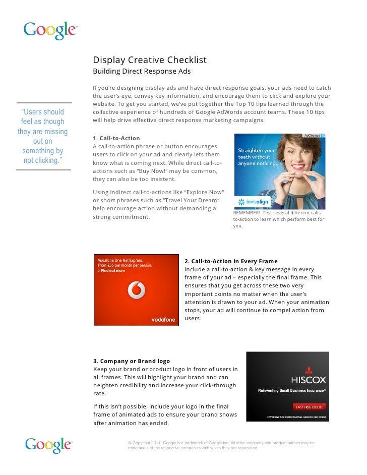 Creative Checklist for Designer & Marketer