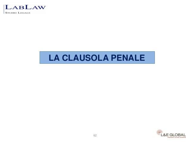 LA CLAUSOLA PENALE        62           62