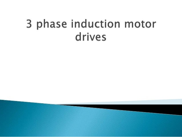 Three phase induction motor drive for Single phase motor drive