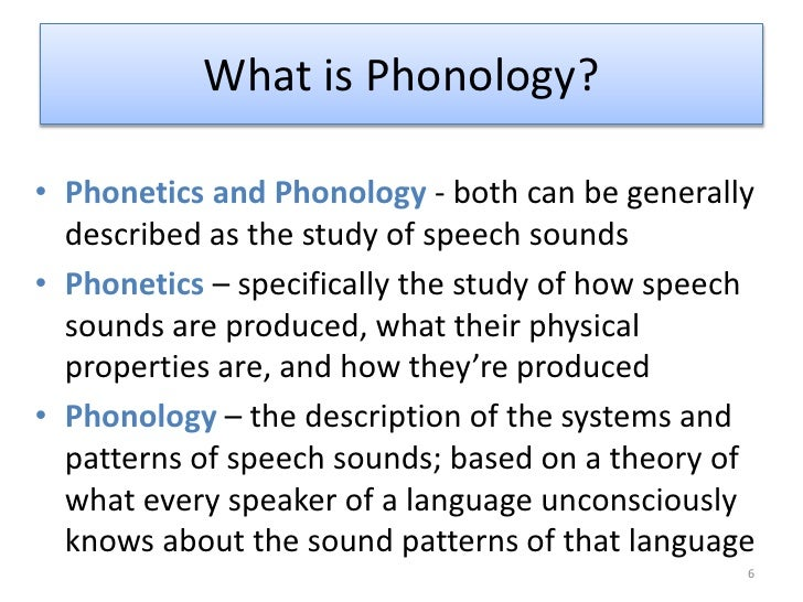 3 Phonology Slides on Study Helps