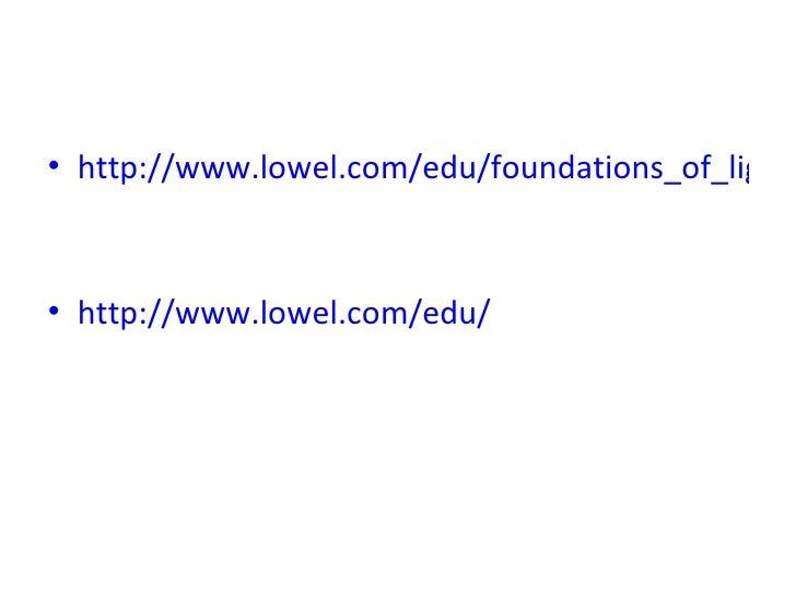 • http://www.lowel.com/edu/foundations_of_lighti• http://www.lowel.com/edu/