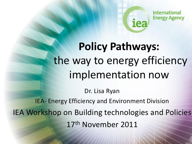 Policy Pathways:            the way to energy efficiency               implementation now                         Dr. Lisa...