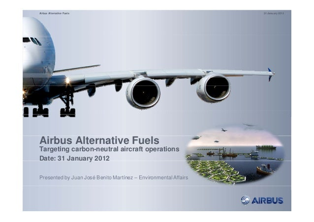 Airbus Alternative Fuels (Targeting carbon-neutral aircraft operations)