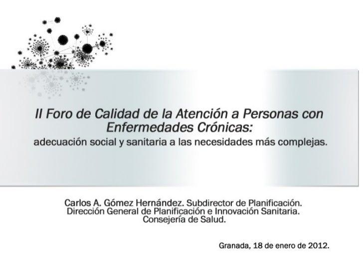 """II Foro """"Calidad de la Atención a Personas con Enfermedades Crónicas"""