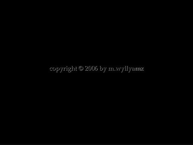 copyright © 2006 by m.wyllyamzcopyright © 2006 by m.wyllyamz