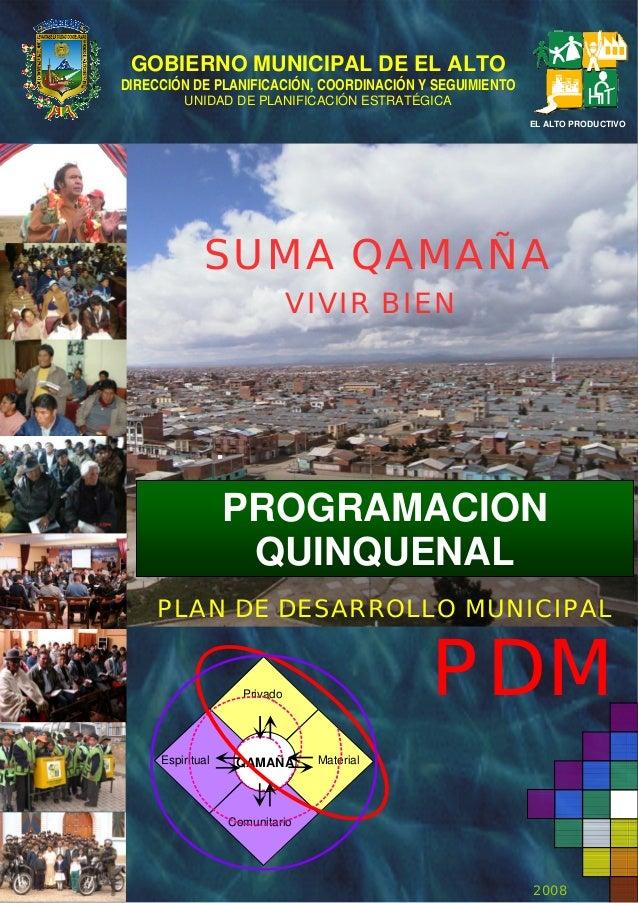 3 Programación Quinquenal PDM El Alto 2007 2011