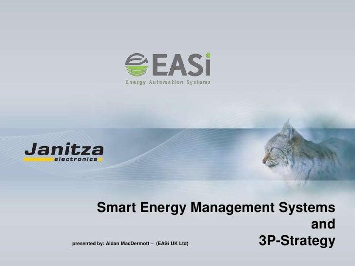 Smart Energy Management Systemsandpresented by: Aidan MacDermott –  (EASi UK Ltd)                                         ...