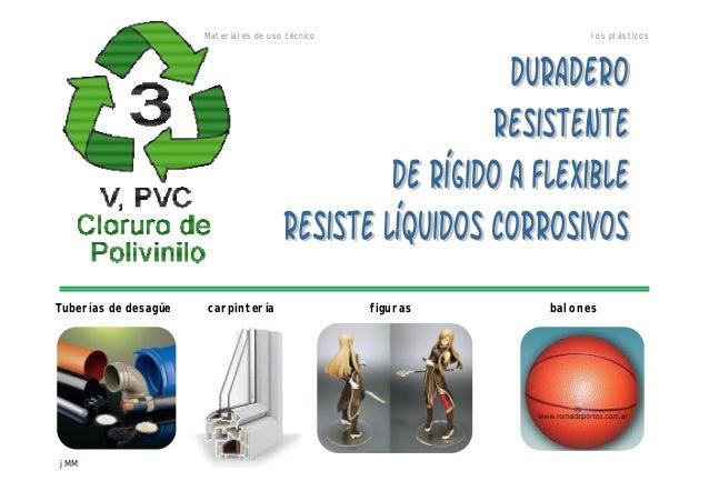 Materiales de uso técnico los plásticos jMM Tuberías de desagüe carpintería figuras balones