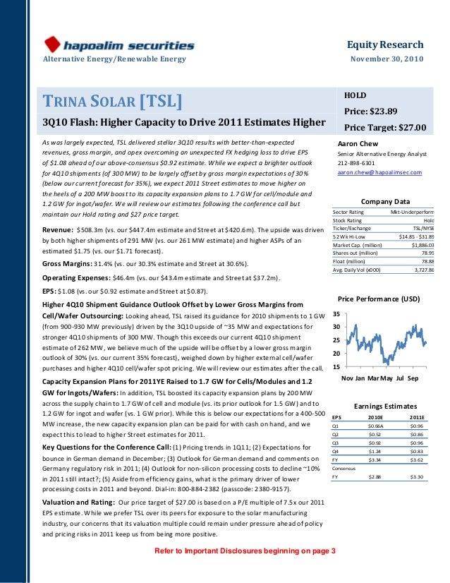 EquityResearch AlternativeEnergy/RenewableEnergy November30,2010  Refer to Important Disclosures beginning ...
