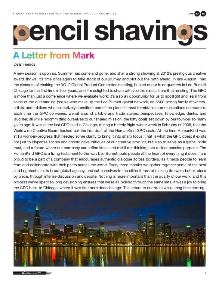 Pencil Shavings: 3Q12 GPC, Chicago