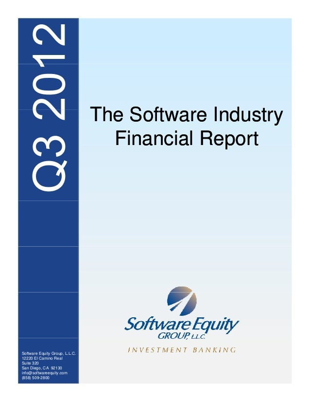 Q3 2012 Software / SaaS / Internet Valuations