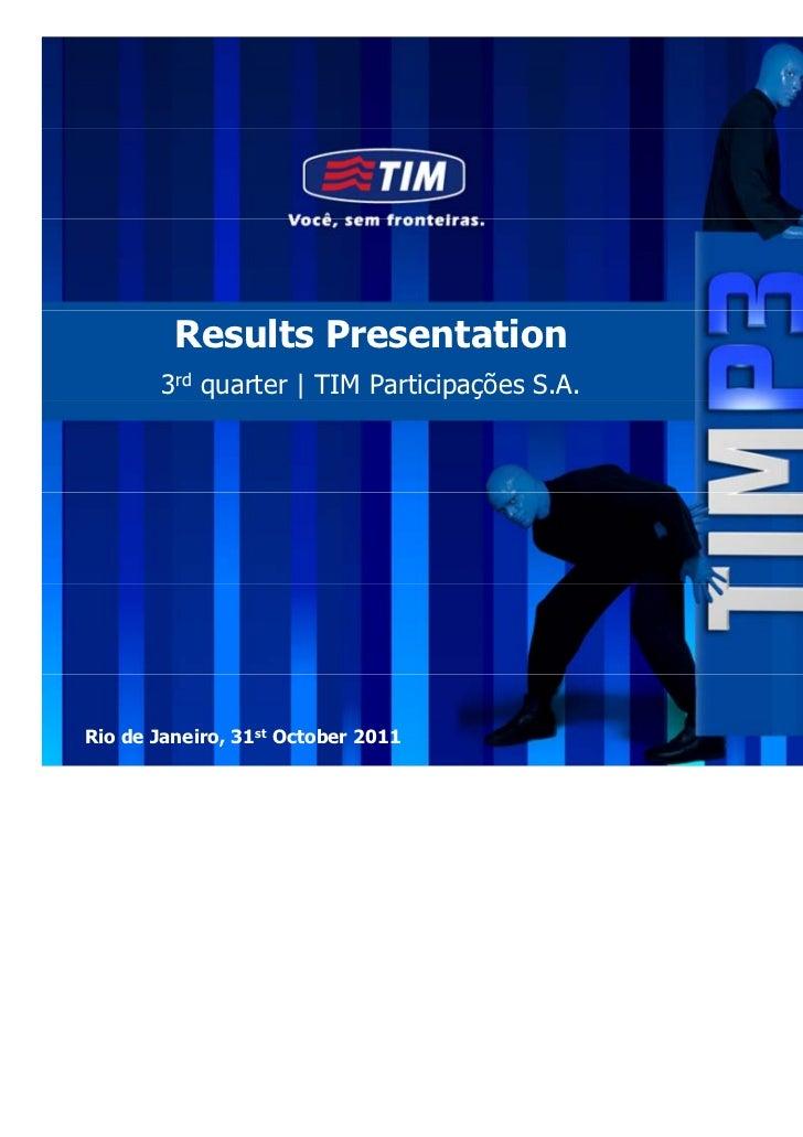 3Q11 Presentation