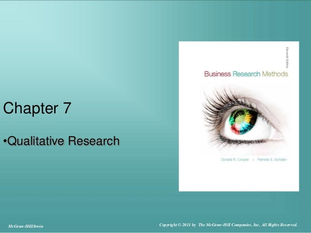 Chapter 7•Qualitative ResearchMcGraw-Hill/Irwin Copyright © 2011 by The McGraw-Hill Companies, Inc. All Rights Reserved.