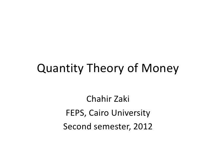 3 quantity theory