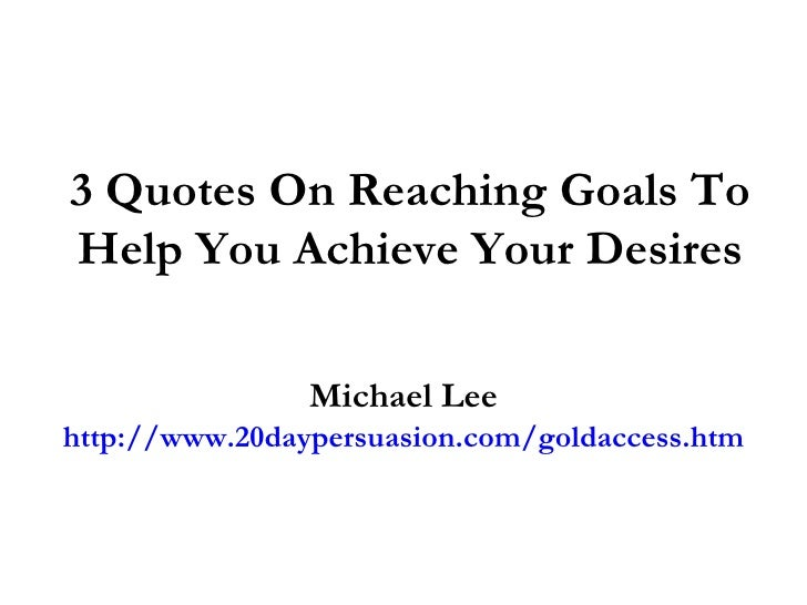 an analysis of uplifting a story about reaching a goal Best motivational video ever for 2014 reach your goals and own your success use this motivation to go out and get what your worth watch a.
