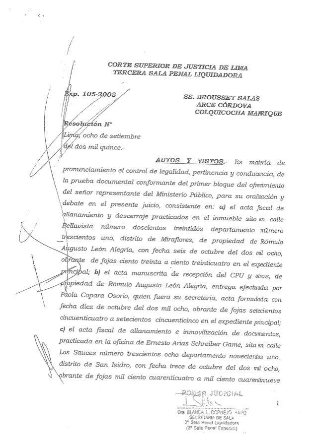 3ra spl - Exp. 105-2008 - se declara prueba ilícita a los petroaudios
