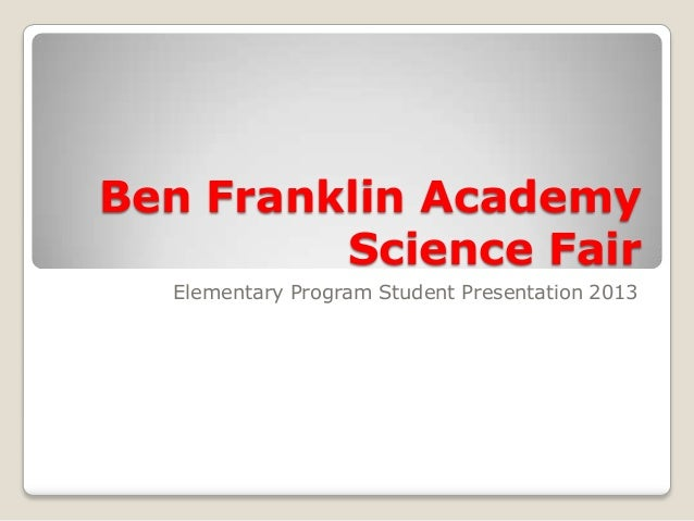 3rd 4th grade science fair presentation